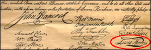 A signer of the Declaration of Independence was another