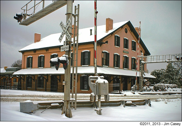 Huntsville Depot In The Snow 2011