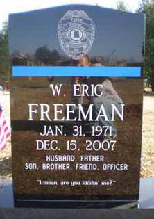 William Eric Freeman Tombstone