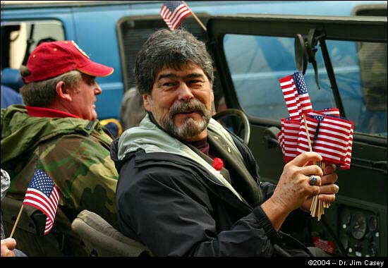 Randy Owens as he appeared in the 2004 Veteran's Day Parade