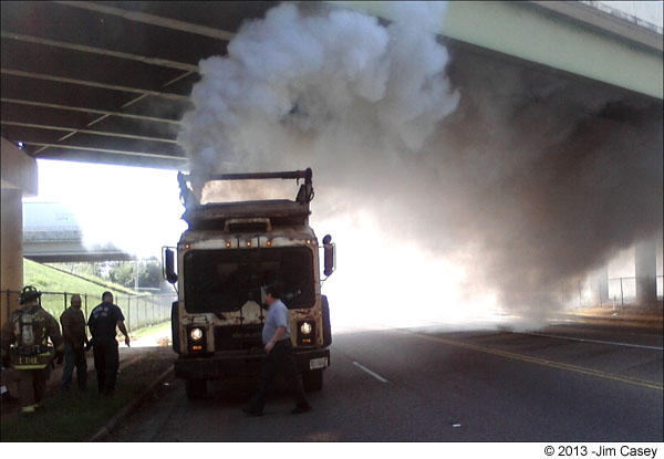 Truck Smoking On Pulaski Pike